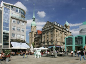 Alter Markt, Dortmund, mit Reinolde-Kirche